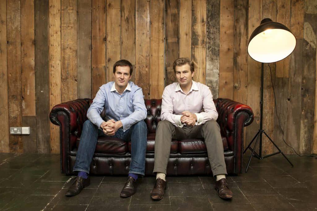 Ιδρυτές Transferwise Taavet και Kristo.