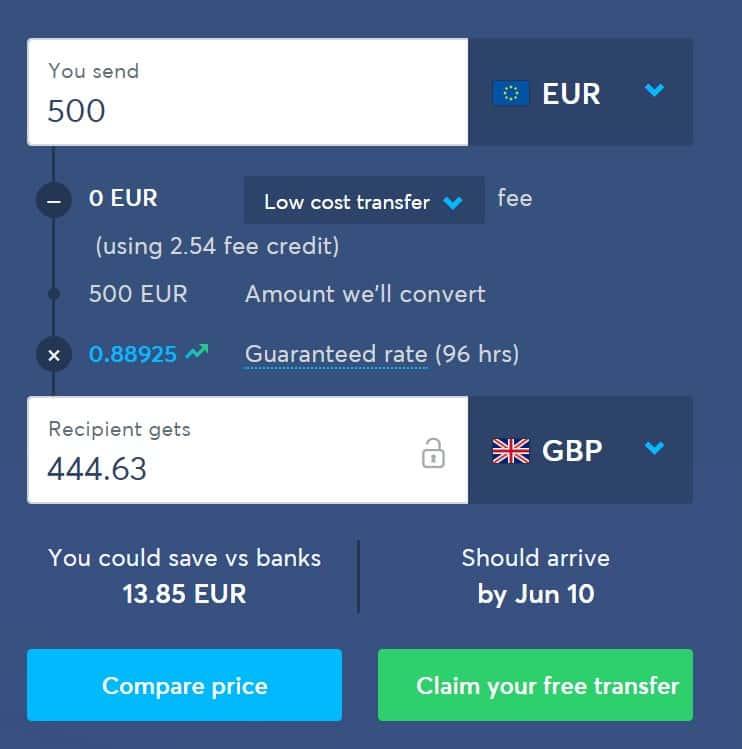 Αποστολή χρημάτων στην Αγγλία χωρίς προμήθεια
