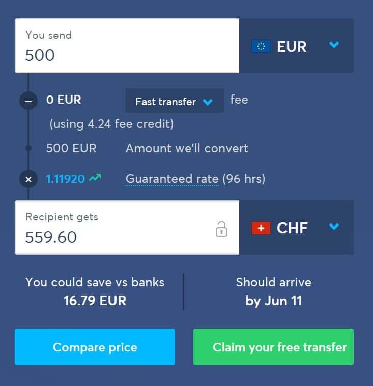 Δωρεάν Αποστολή Χρημάτων στην Ελβετία