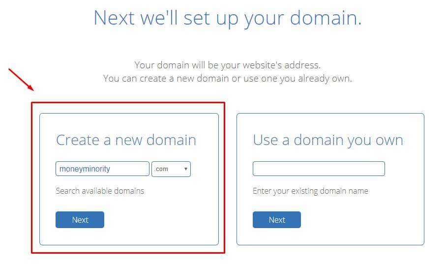 Επιλογή Δωρεάν Domain Name από την Bluehost