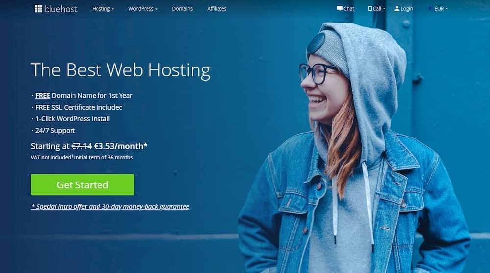 Επιλογή BlueHost για Δημιουργία Blog - Έκπτωση MoneyMinority