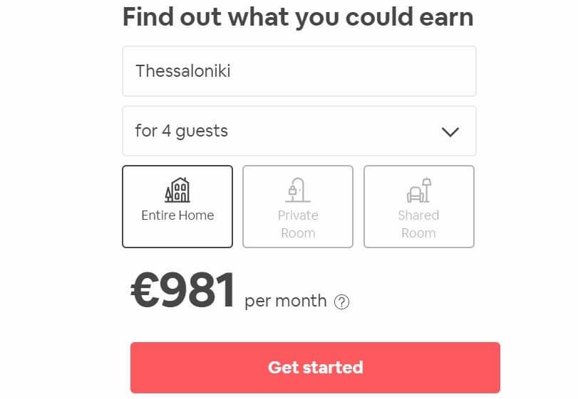 Κέρδη Ενοικίασης Σπιτιού στην Θεσσαλονίκη ανά μήνα με Airbnb
