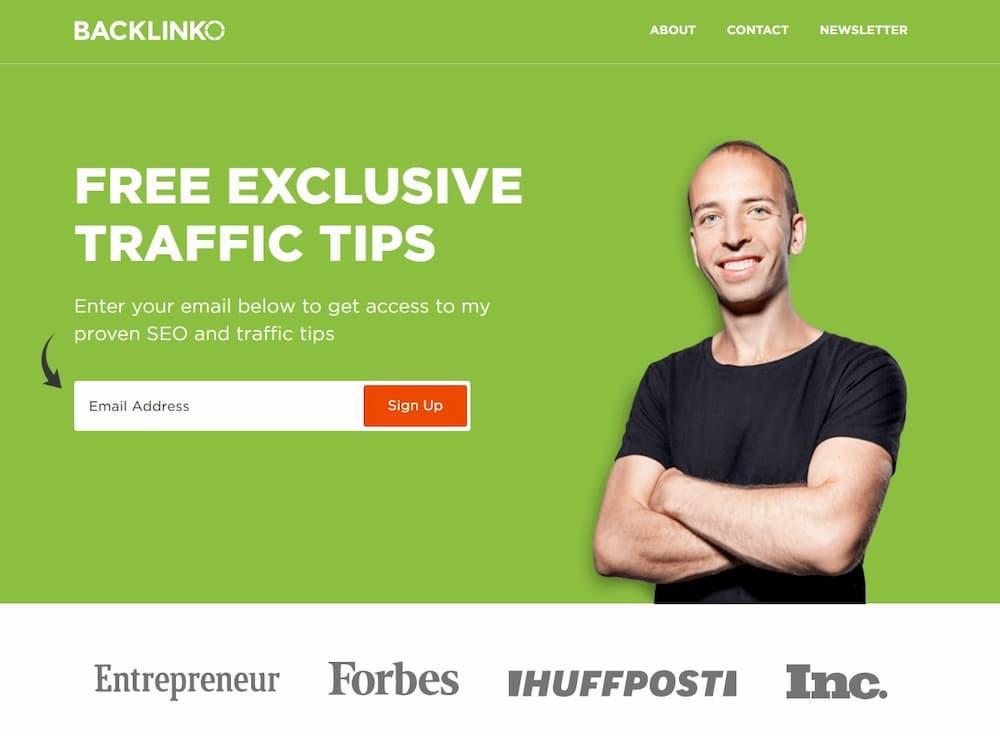 Παράδειγμα Influencer Type Blog Baclinko