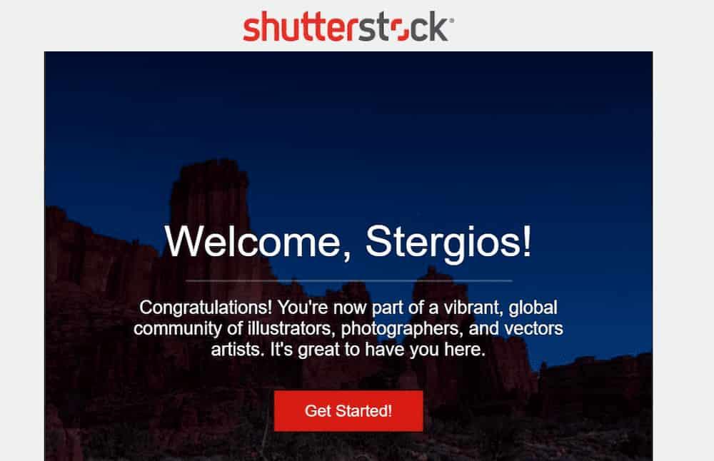 Δημιουργία Shutterstock Contributor λογαριασμού για πώληση φωτογραφιών online -  Επιτυχημένη Εγγραφή