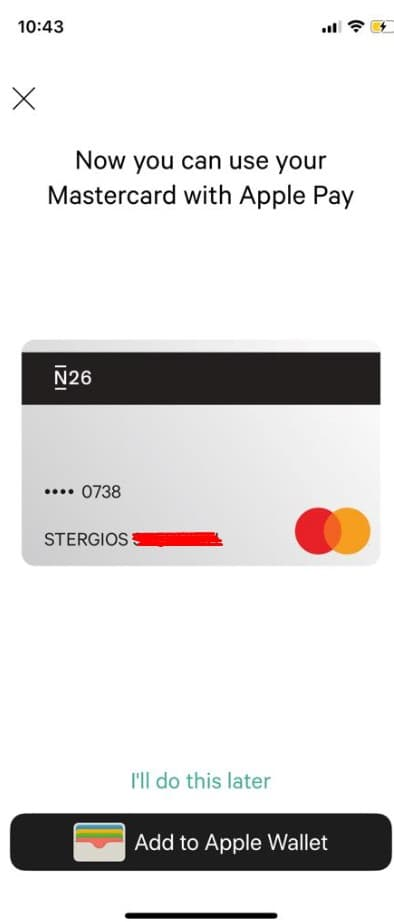 Apple Pay στην Ελλάδα με την N26