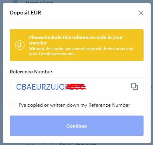 Αποστολή Χρημάτων με Έμβασμα στο Coinbase - Βήμα 3
