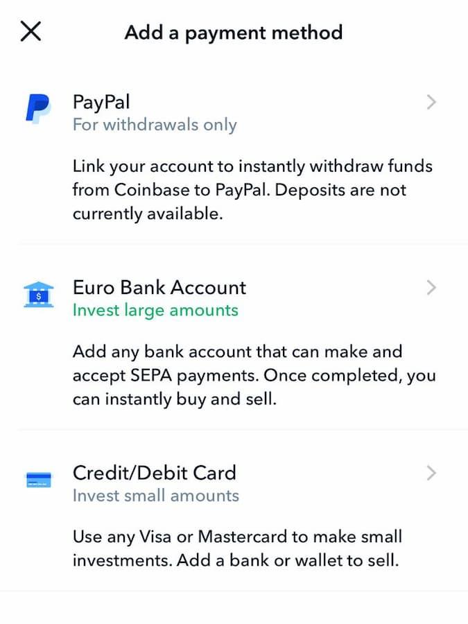 Αγορά Bitcoin από το Coinbase με Κάρτα - Βήμα 3