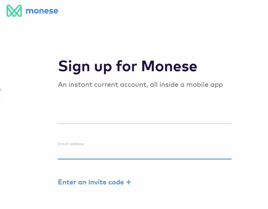 Δημιουργία Λογαριασμού Monese - Email και bonus code