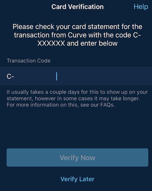 Διαδικασία Προσθήκης Κάρτας στον λογαριασμό της Curve