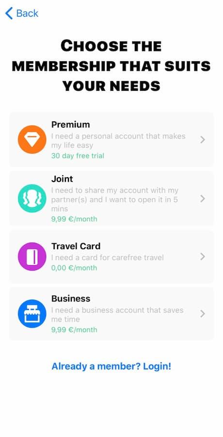 Επιλογή κατάλληλου Pricing Plan στην Bunq