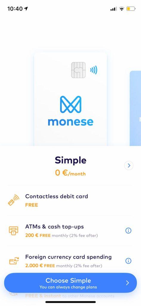 Επιλογή κατάλληλου pricing plan στην Monese