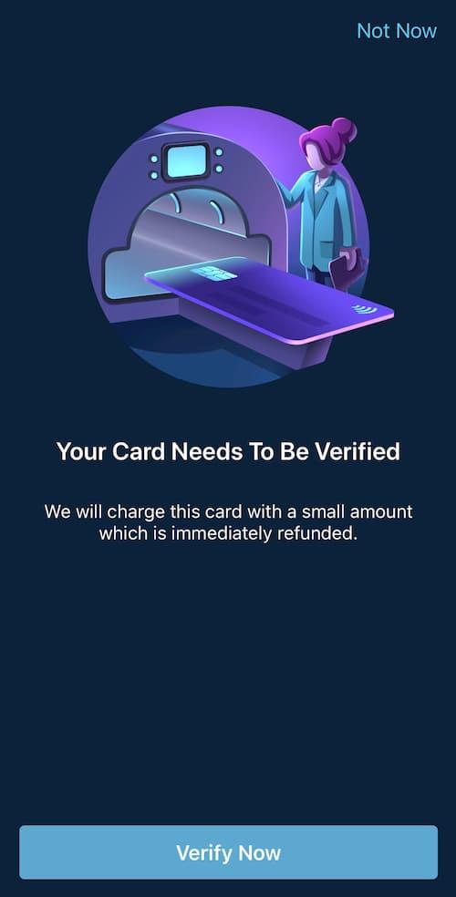 Verification Κάρτας στην Curve
