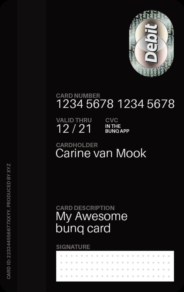 Πίσω πλευρά travel card χωρίς CVC