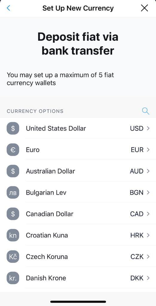 Δημιουργία έως 5 λογαριασμών σε διαφορετικά νομίσματα