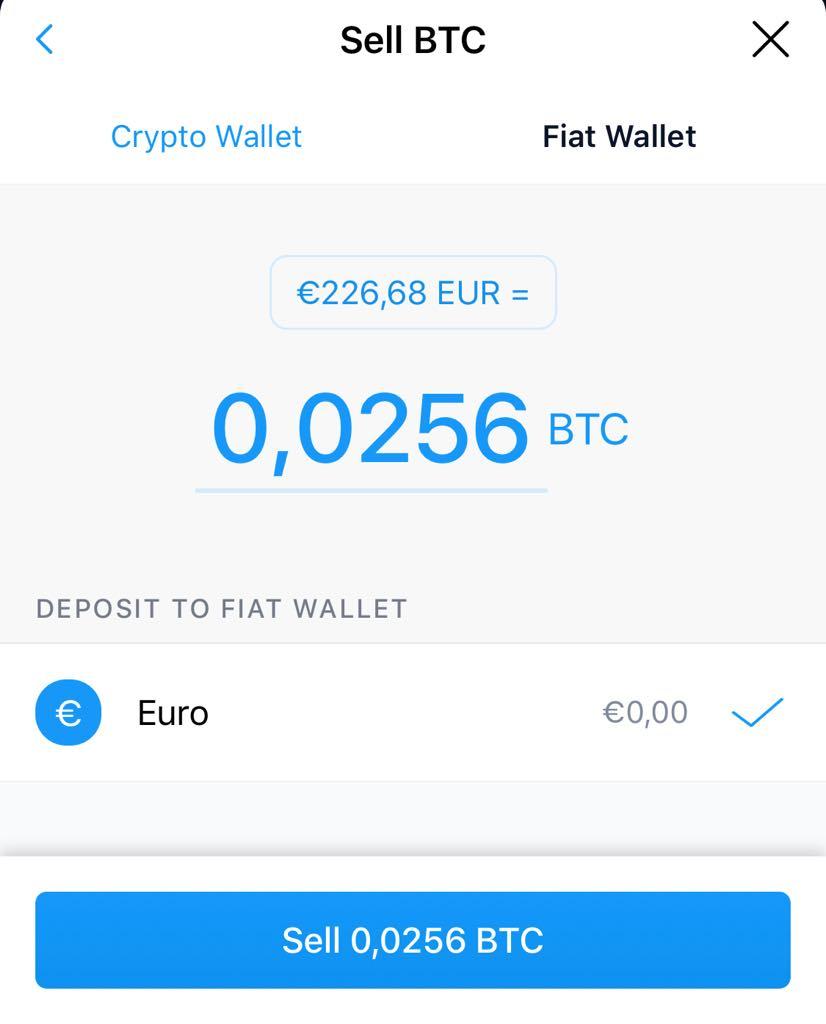 Πώληση Bitcoins στο Crypto.com