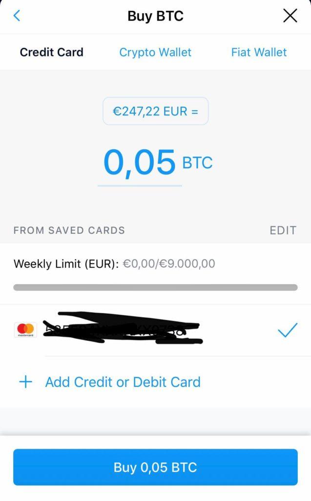 Αγορά Bitcoin από το Crypto.com με Χρεωστική Πιστωτική Κάρτα