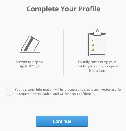 Απαραίτητα Βήματα για να Ολοκλήρωσεις το Profile σου στο eToro
