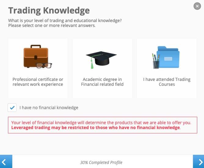 Συμπλήρωσε τις Γνώσεις σου πάνω στις Επενδύσεις - Δημιουργία Λογαριασμού eToro