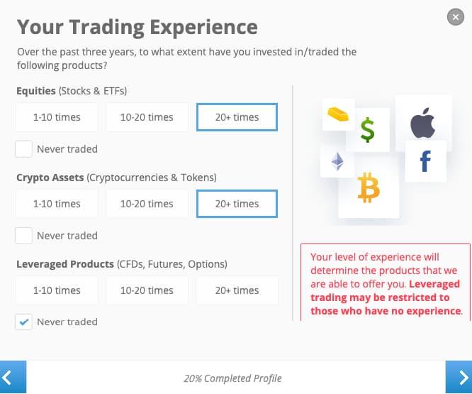 Συμπλήρωσε την Εμπειρία σε Επενδύσεις - Δημιουργία Λογαριασμού eToro