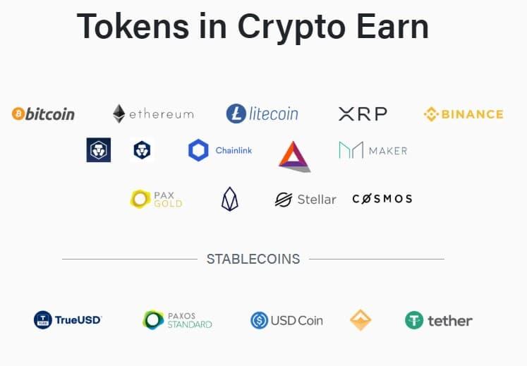 Τα Νομίσματα που συμμετέχουν στο Crypto Earn
