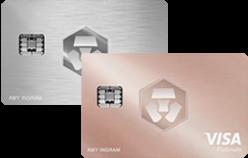 Icy White ή Rose Gold MCO Visa Card