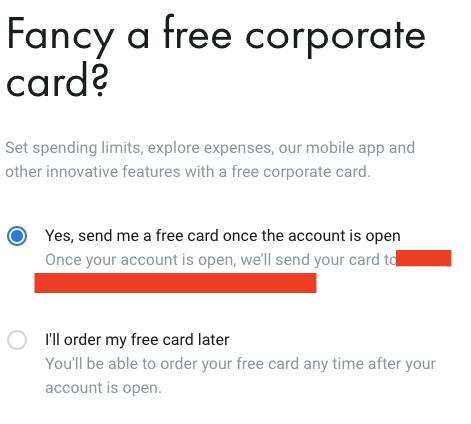 Παραγγελία Δωρεάν Επαγγελματικής Κάρτας Revolut