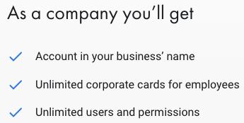Επαγγελματικός Λογαριασμός Revolut για Εταιρίες