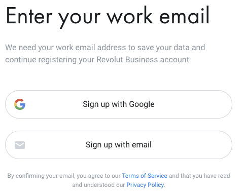 Επιλογή email δημιουργία επαγγελματικού λογαριασμού