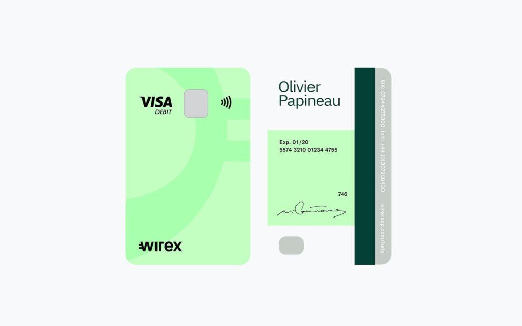 Wirex VISA Χρεωστική Κάρτα