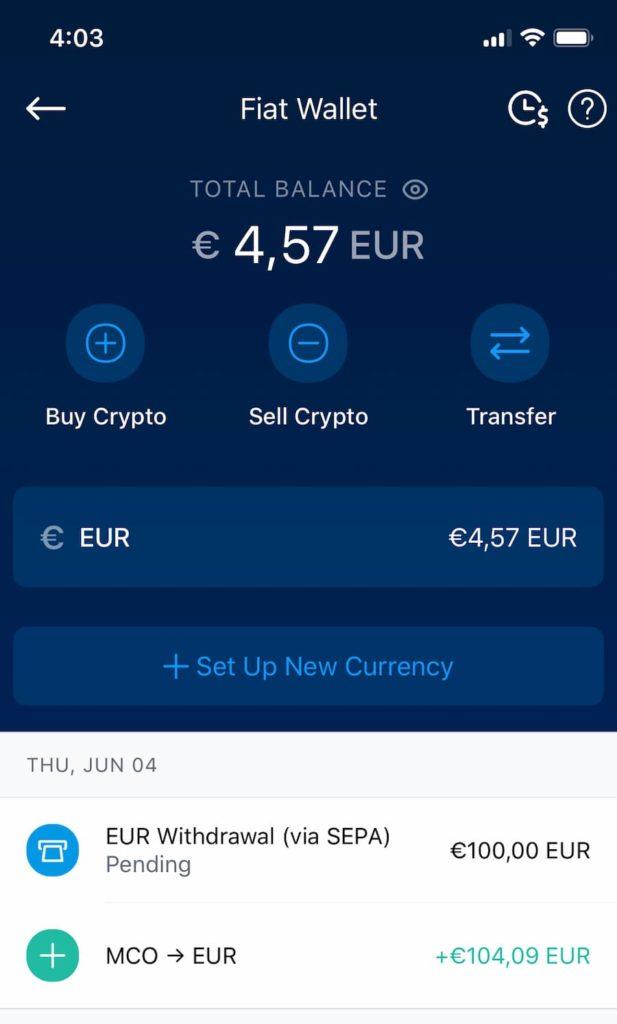 Ανάληψη χρημάτων από το Crypto.com
