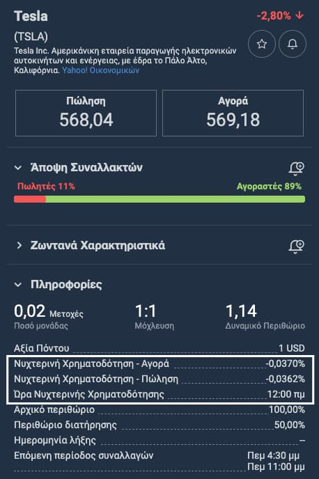 Tesla Stock Overnight Fee Plus500