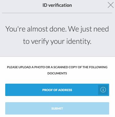 Address Verification Trading212