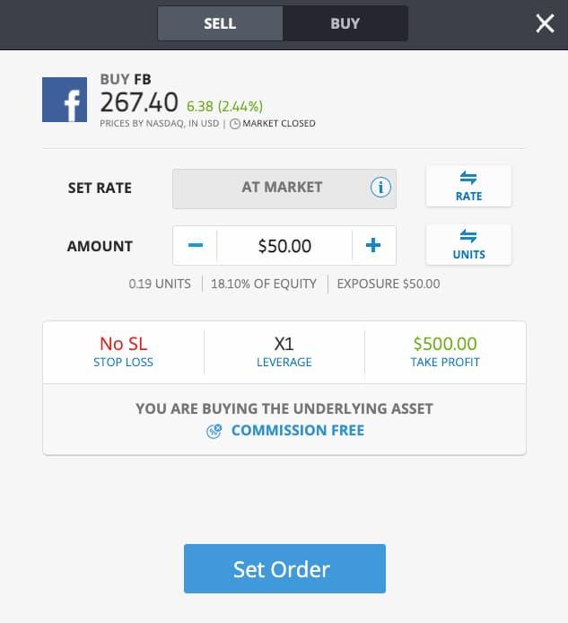 Αγορα Μετοχής Facebook στο eToro