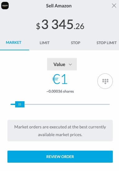 Πώληση μετοχών στην trading212